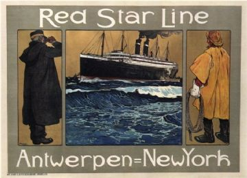 Antwerp-NYC poster - Red Star Line